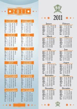 Simple 2011 calendar template vector