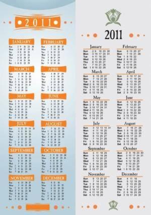 free vector Simple 2011 calendar template vector