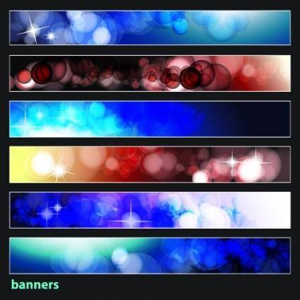 free vector Brilliant dynamic banners 08 vector