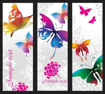 Beautiful pattern banner 02 vector