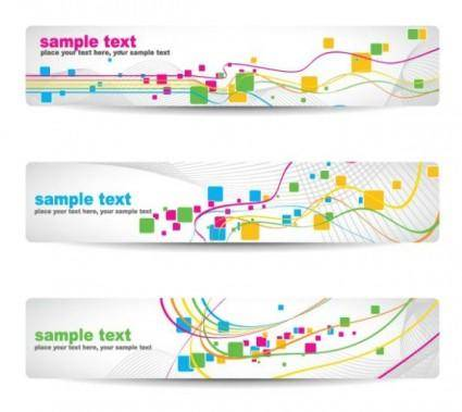free vector Beautiful pattern banner 05 vector