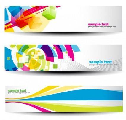 free vector Beautiful pattern banner 07 vector