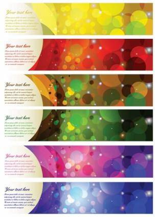 free vector Brilliant color halo banner vector