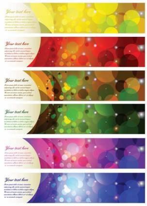 free vector Brilliant color halo banner vector