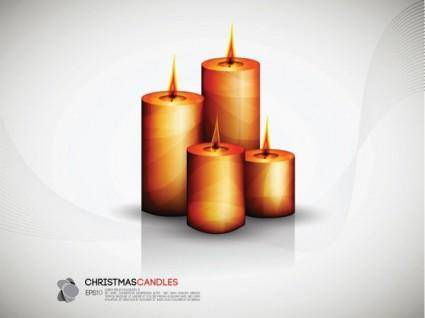 Fine candles vector