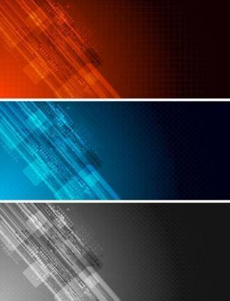 Colorful banner banner02 vector