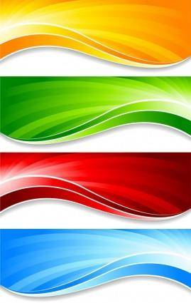 Colorful banner banner04 vector