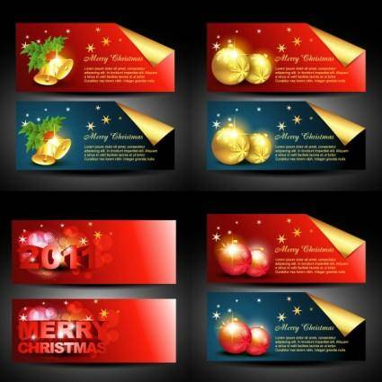 free vector Beautiful christmas banner vector