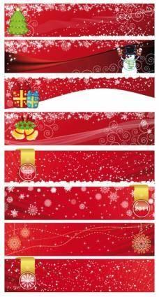 free vector Festive christmas banner vector