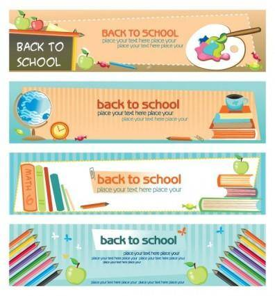 Illustration style of education theme banner design template vector 2