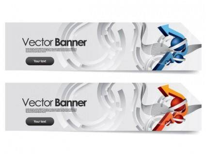 free vector Sense of science and technology background vector 2 banner