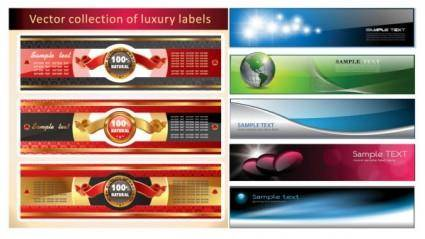 Several banners banner vector