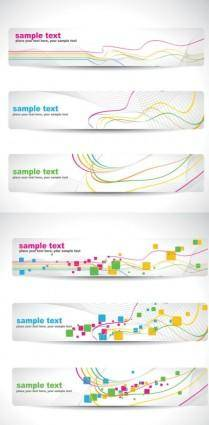 free vector Dynamic line banner banner vector background