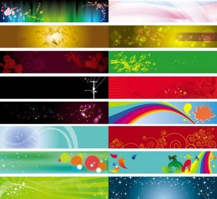 free vector Background banner beautiful pattern vector