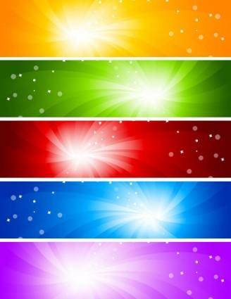 Glare banner vector background