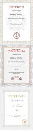 free vector Beautiful certificate template vector