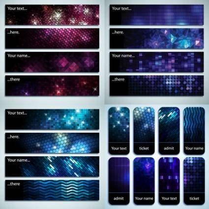 Starstudded background banner vector