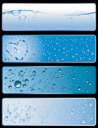 free vector Water theme banner vector