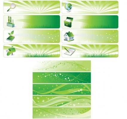 Environmental theme banner vector background