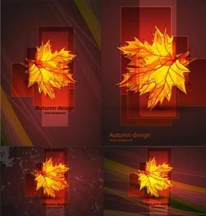 free vector Maple leaf vector glare