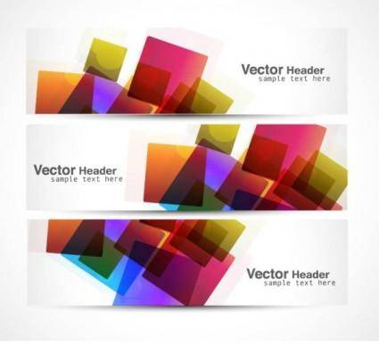 free vector Abstract modern graphics banner04 vector