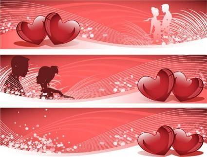Love banner vector