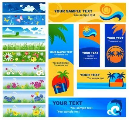 free vector Summer banner vector