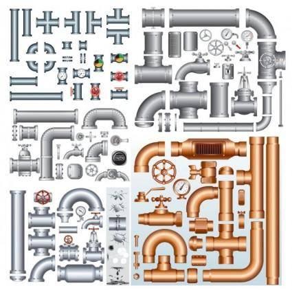 free vector Steel iron pipe vector