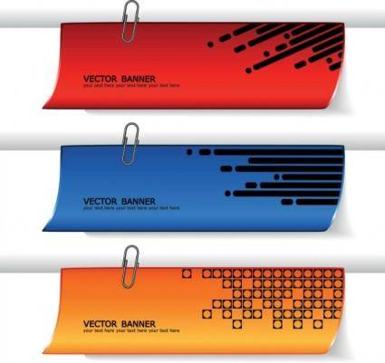 Fine banner 03 vector