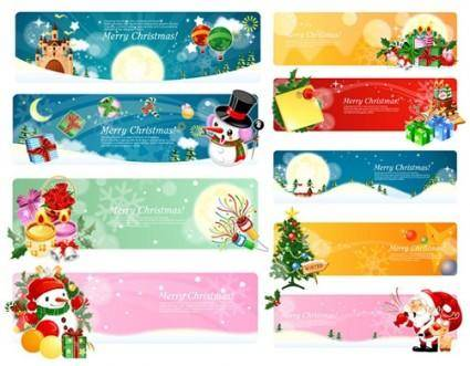 free vector Banner vector christmas theme
