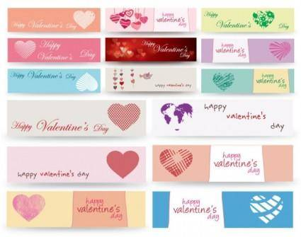 Valentine day banner vector