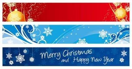 free vector Beautiful christmas banner banner vector