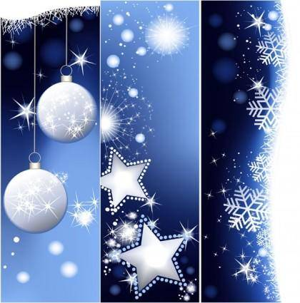 free vector Christmas vertical shaped banner vector background
