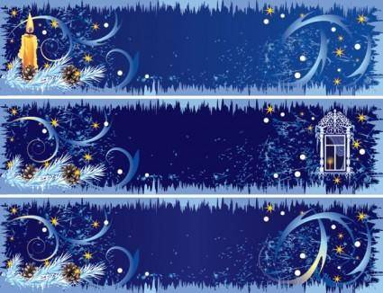 free vector Beautifully decorated christmas banner vector