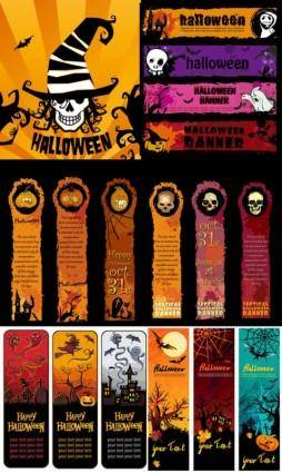 Halloween banner element vector