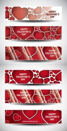 Valentine day banner vector heart