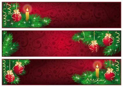 free vector Red christmas banner vector
