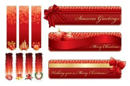 free vector Christmas decorative banner vector