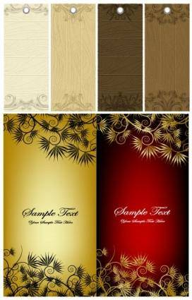 Pattern tag and banner vector