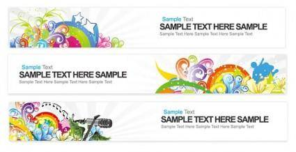 free vector Bright banner vector
