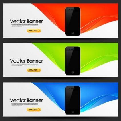 Mobile banner design trend pattern vector 2