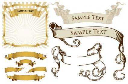 free vector Retro ribbon banner vector