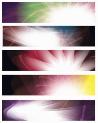 free vector Abstract Banners Vector Set