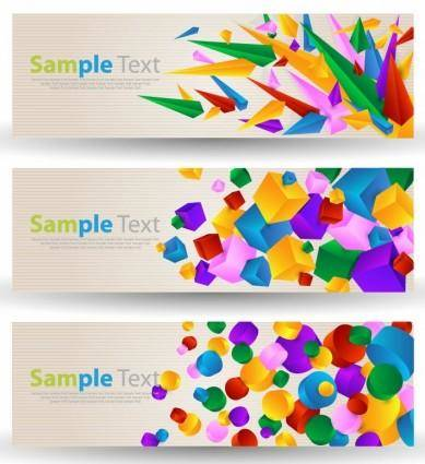 free vector Abstract Colorful Banner