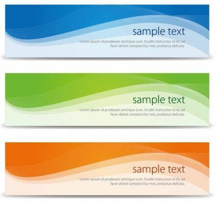 free vector Abstract Banners Set Vector Illustration