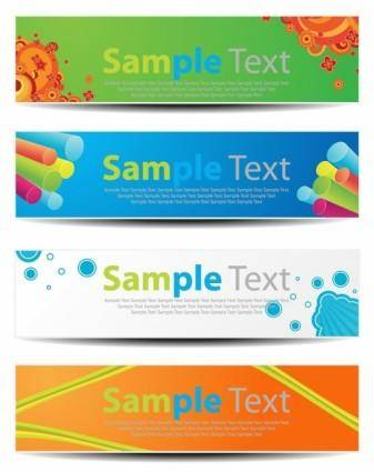 free vector Vector Horizontal Banners