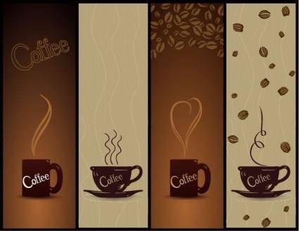 free vector Vector Coffee Banners