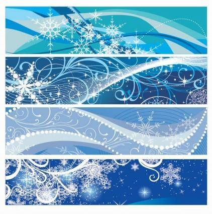 free vector Vector Christmas Banners