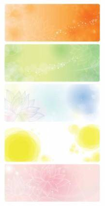 Vector Banners with Floral Background