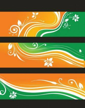 free vector Free Flower Banners Vector Illustration